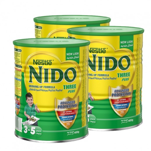 Nido Three Plus  Milk Powder  (3-5 Years) (3 x 400 g)
