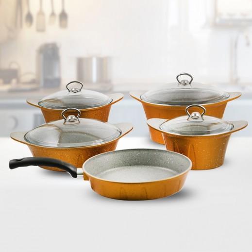 OMG Innova Fusion Granite Cookware Set Bronze - 9 Pieces