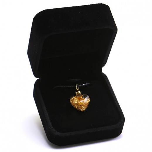 Q Best 24K Gold Foil Heart Pendant
