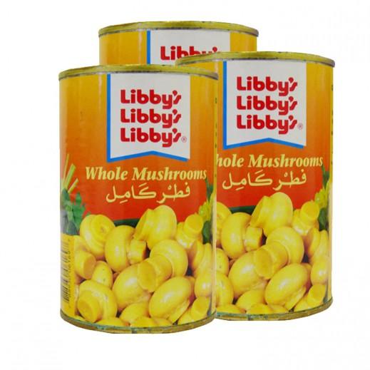 Libbys Whole Mushrooms 3 x 400 g
