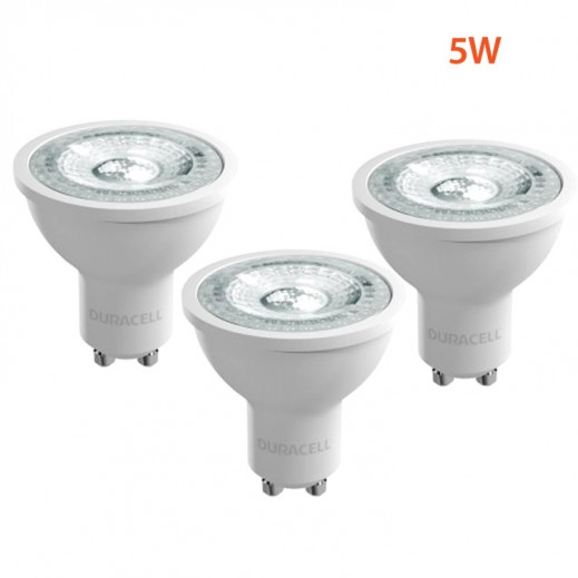 Wholesale-Duracell GU10 LED MR16-GU10-LCOB-5W (Pack of 3)