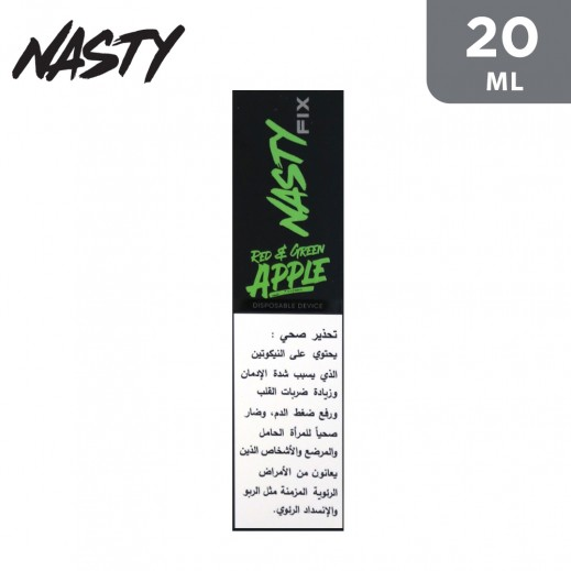 Nasty Fix Disposable Pod Device 300 Puffs Red & Green Apple (Double Apple)