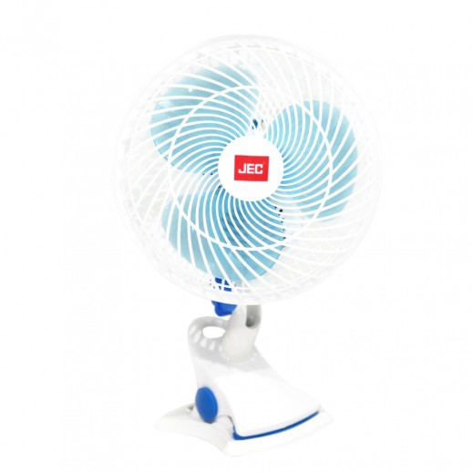 JEC Clip And Table Fan 8'' - White