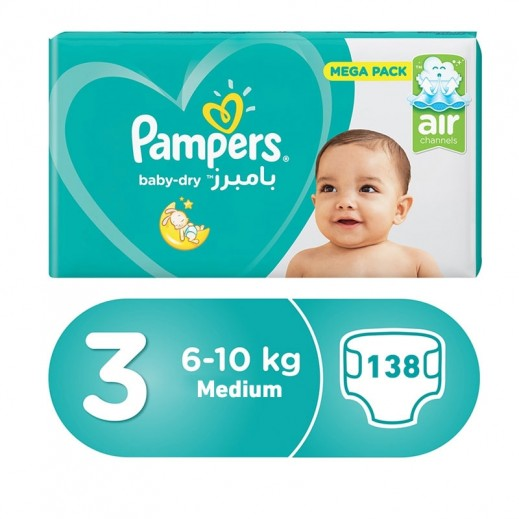 Pampers Midi Stage 3 (6-10 Kg) Value Pack 46 Pieces 2 + 1 Free