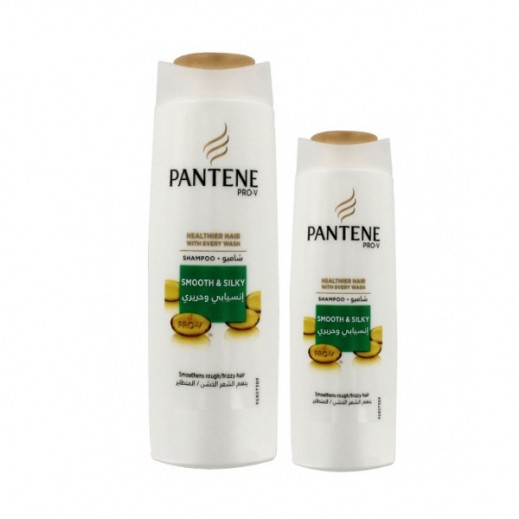 Pantene Smooth & Silky Shampoo 400 ml + 200 ml Free