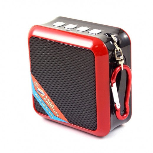 WS Mini Wireless Speaker - Red & Black