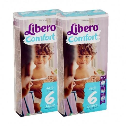 Libero Comfort Fit Diapers Size 6 (13 - 20 kg) 2 x 44 Pieces