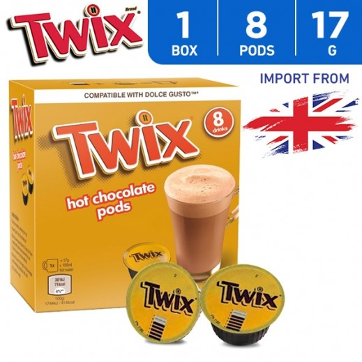Twix Coffee Capsule Hot Chocolate Pods 8 x 17 g
