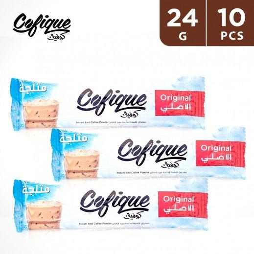 Cofique Original Instant Iced Coffee Powder 24 g (10 Sticks)