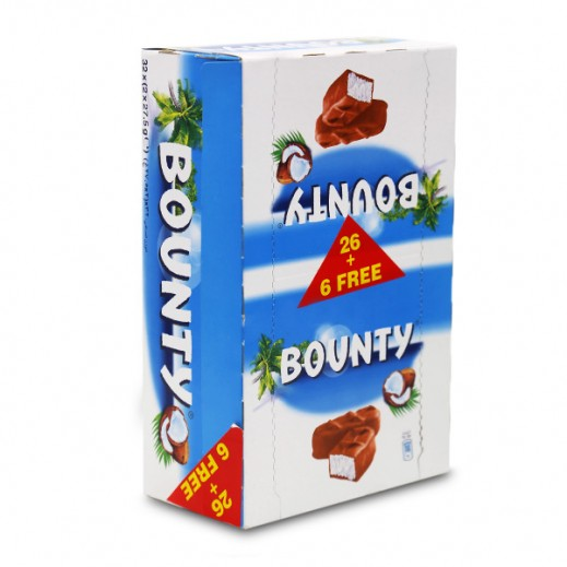 Bounty Doubles Chocolate 55 g (26+6 Free)