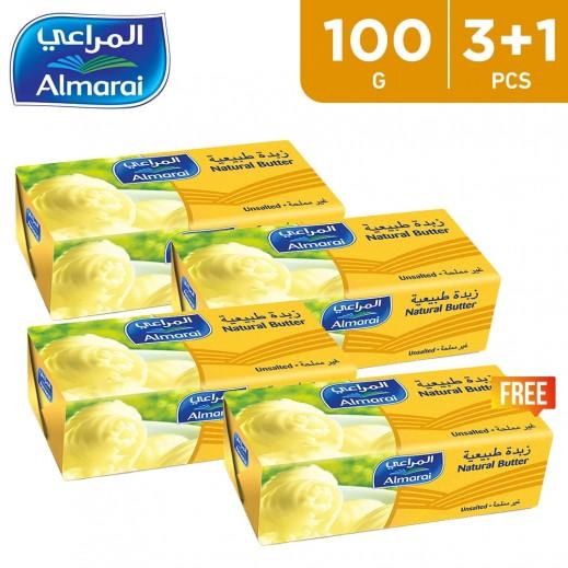 Almarai Unsalted Natural Butter 100 g (3 + 1 Free)
