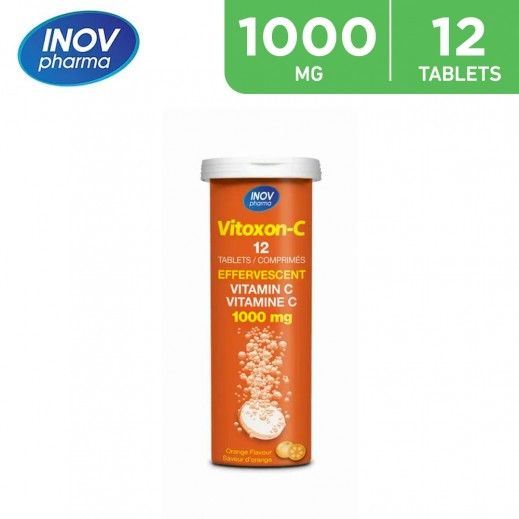 Inov Pharma Vitoxon-c Orange 1000mg Effervescent 12 Tablets