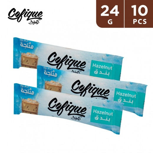 Cofique Hazelnut Instant Iced Coffee Powder 24 g (10 Sticks)