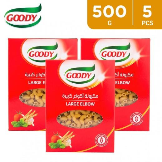 Goody Large Elbow Macaroni N0.33 Pasta 5 x 500 g