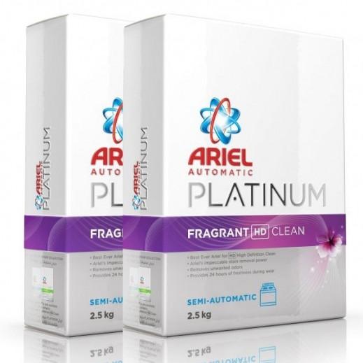 Ariel Platinum Fragrant HD Clean Detergent 2X2.5 kg
