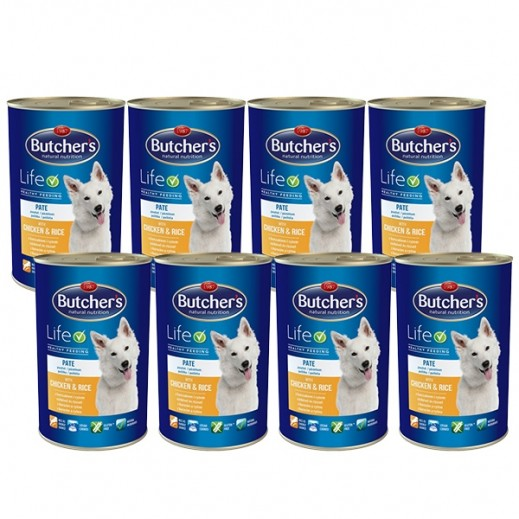 Butchers Natural Nutrition With Chicken & Rice Dog Food 8x390 g