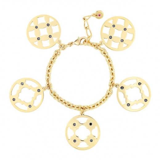 Lola & Grace Arabesque Filigree Large Disc Bracelet - delivered by Beidoun