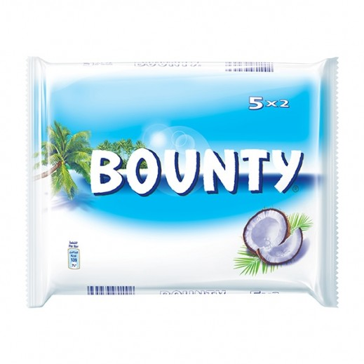 Bounty Twin Bar Chocolate 5x57 g