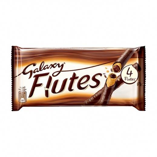 Galaxy Flutes 4 Finger Chocolate 45 g