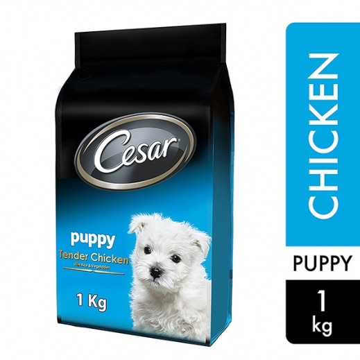 Cesar Puppy Tender Chicken With Rice & Vegetables 1 kg