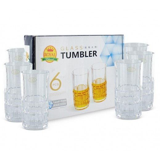 Royal Crystal Glass Tumbler 6 Pieces
