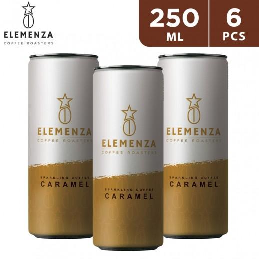 Elemenza Caramel Sparkling Coffee 6 x 250 ml