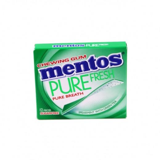 Mentos Sugar Free Pure Fresh Spearmint Gum 33 g