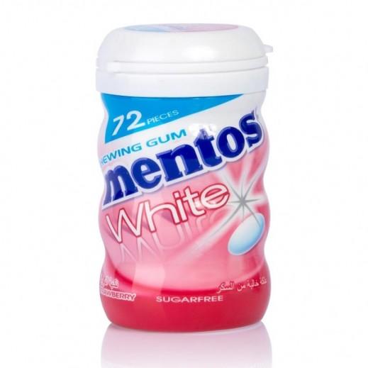 Mentos Sugar Free White Strawberry Gum 103 g