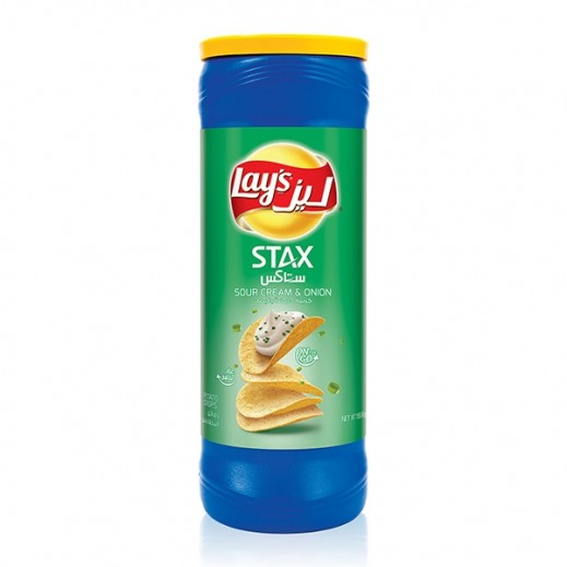 Lays Stax Sour Cream  Onion Chips 155 g
