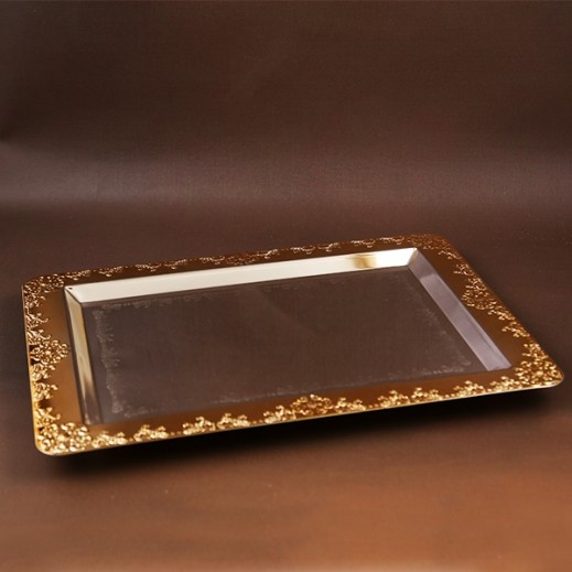 ASC Gold and Silver plated Serving Tray Medium