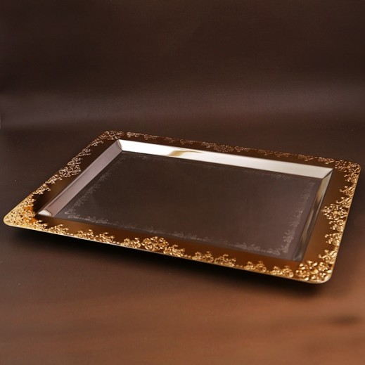 ASC Gold and Silver plated Serving Tray Large