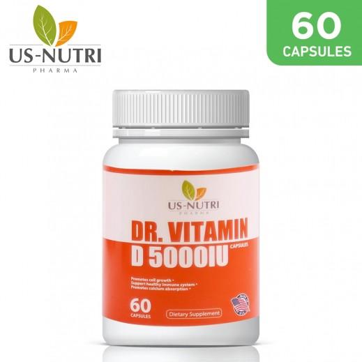 DR.Vitamin D 5000lU 60 Capsules