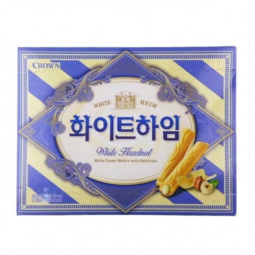 Crown White Chocolate Cream & Hazelnuts Wafer 142 g