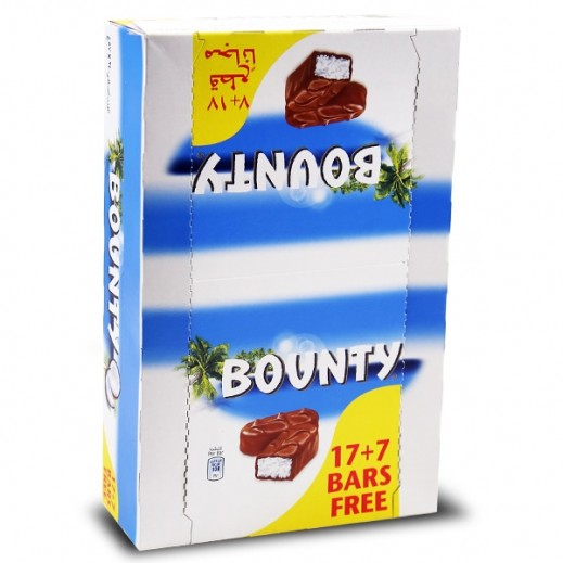 Bounty Double Chocolate Bar 57 g 17+7 Free