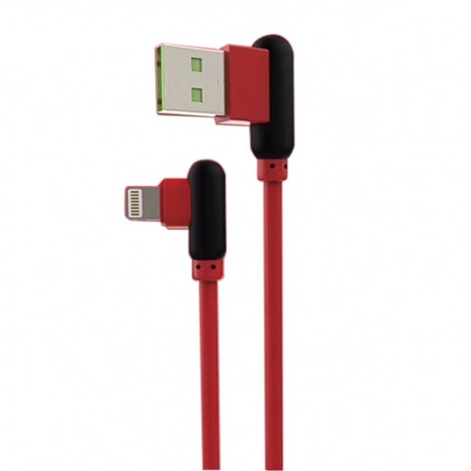 Dprui Lightning Cable 1.2 m 2.4 A - Red