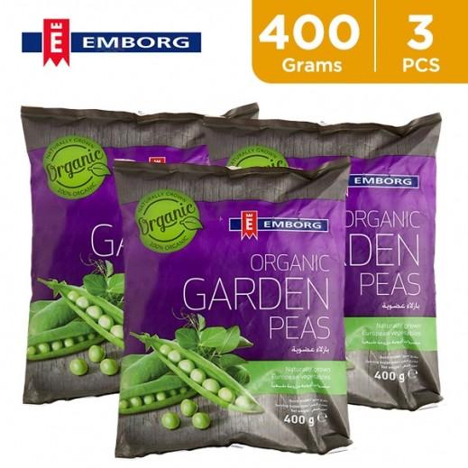 Value Pack - Emborg Organic Garden Peas 3 x 400 g