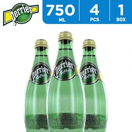 Perrier Mineral Water Natural 4 x 750 ml