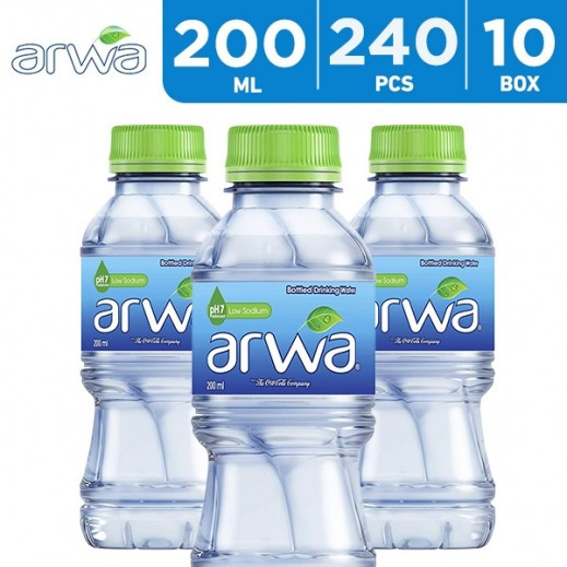 Arwa Drinking Water 240 x 200 ml - delivered by Taw9eel Wholesale Within 6 hours