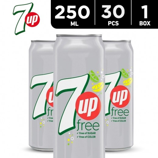 7up Diet Can Carton 30 x 250 ml