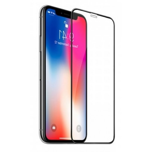 Hoco Full Cover Glass Screen Protector for iPhone X - Black