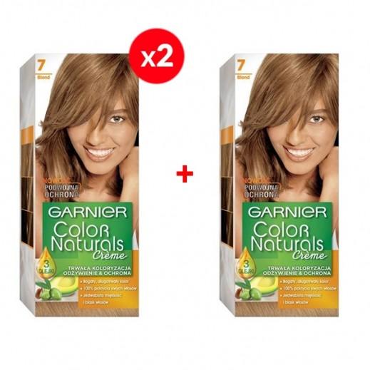 Garnier Color Naturals Crème 7 Blond 2 + 1 Free Prom