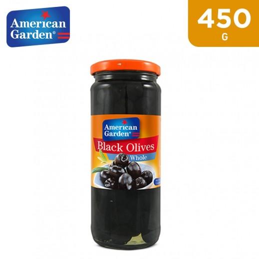 American Garden Whole Black Olives (450 g)