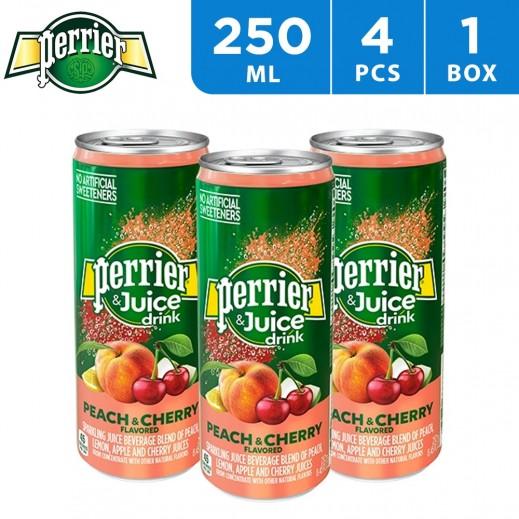 Perrier Peach & Cherry Juice 4 x 250 ml