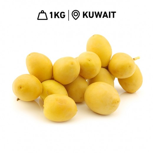 Fresh Kuwaiti Berhi Dates (1 kg Approx)