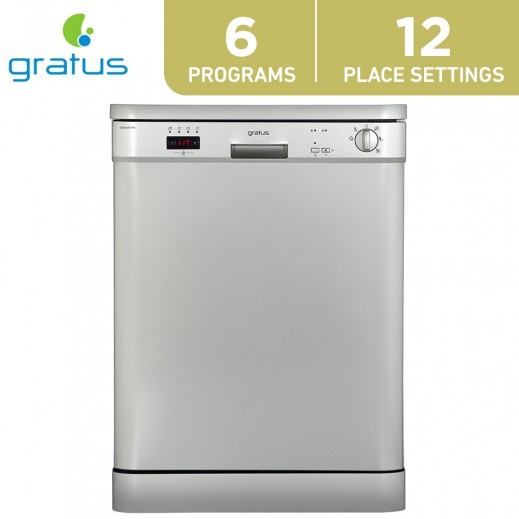 Gratus 12 Places Setting Dishwasher - Silver - delivered by Smart Stores