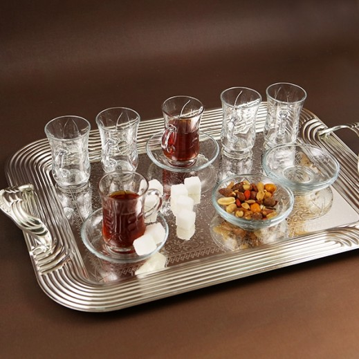 ASC Istikana Cup and Saucer Set with Dots - 12 Pieces