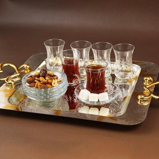 ASC Istikana Cup and Saucer Set with Star - 12 Pieces