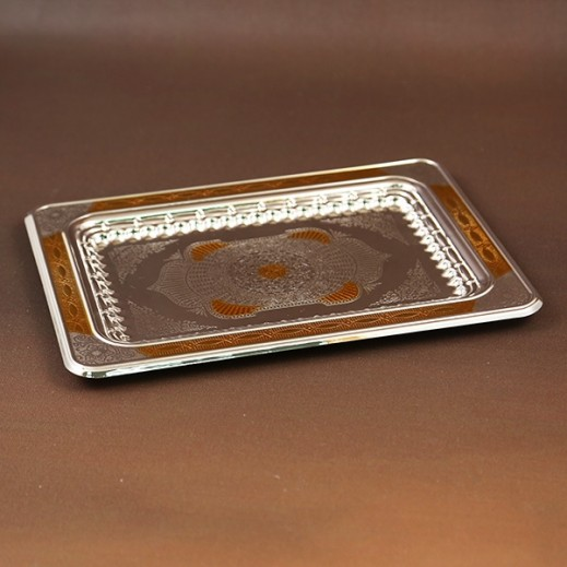 ASC Silver and Gold Plated Tray Small