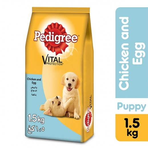 Pedigree Puppy Chicken and Egg Dry Dog Food 1.5 kg