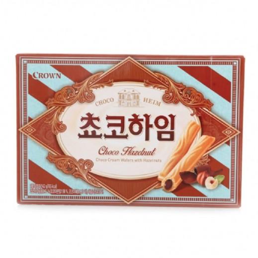 Crown Chocolate Cream & Hazelnuts Wafer 142 g